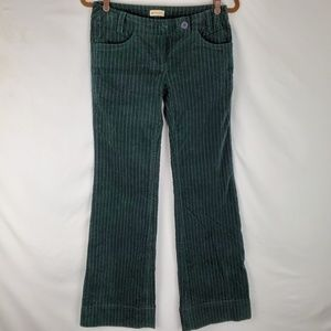 Velvet-Like Striped Green Pants by Elevenses